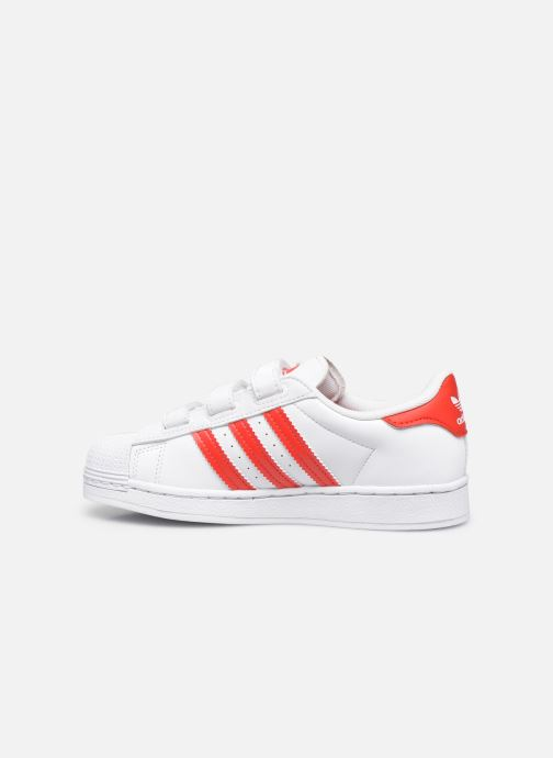 Sneakers adidas originals superstar CF C Bianco immagine frontale