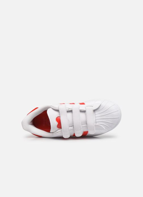 Sneakers adidas originals superstar CF C Bianco immagine sinistra