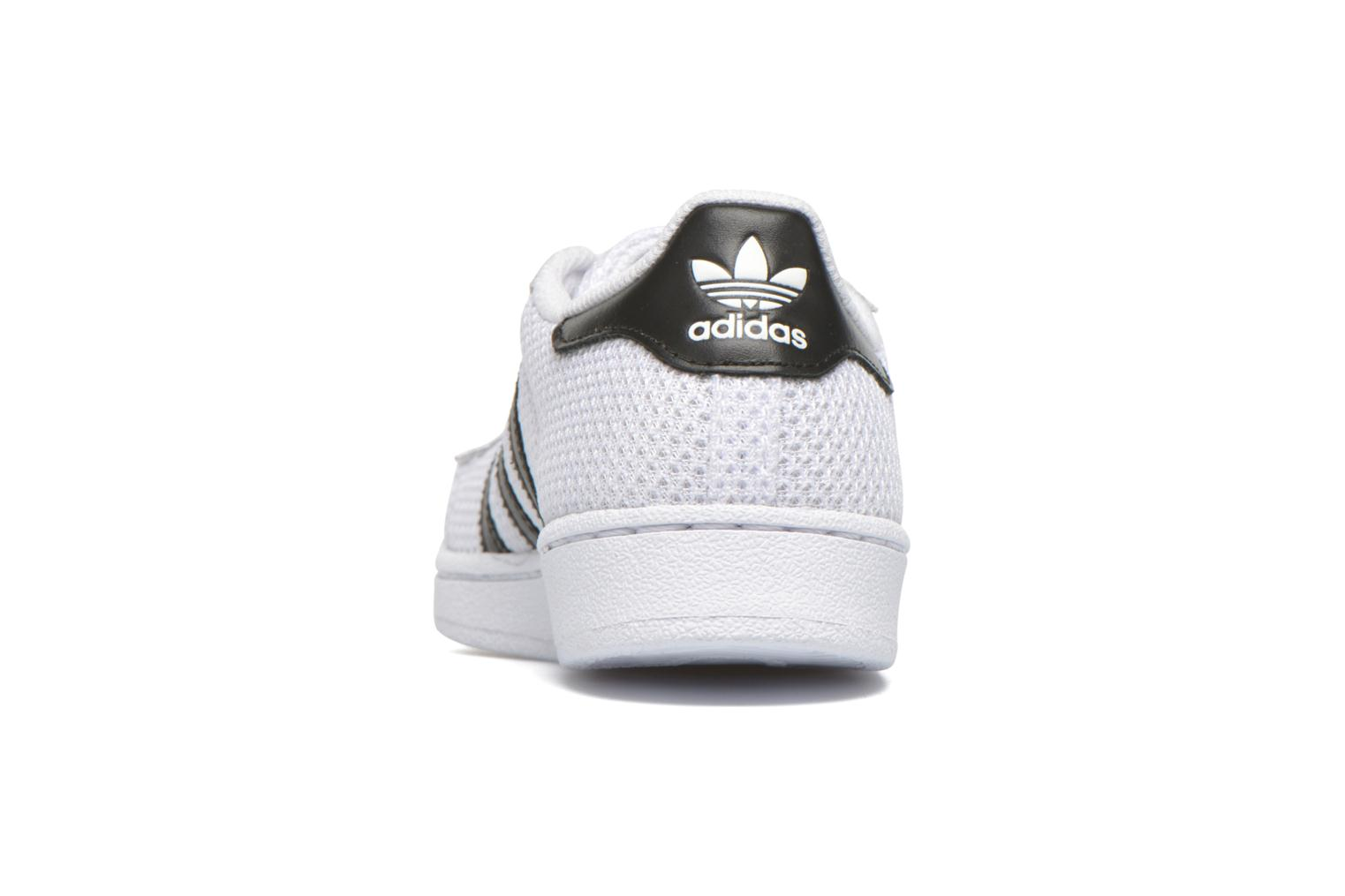Baskets Adidas Originals superstar CF C Blanc vue droite
