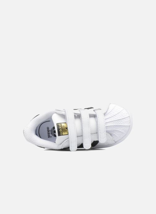 Trainers adidas originals Superstar CF I White view from the left
