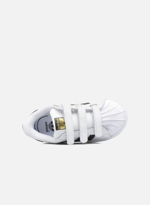 Baskets adidas originals Superstar CF I Blanc vue gauche