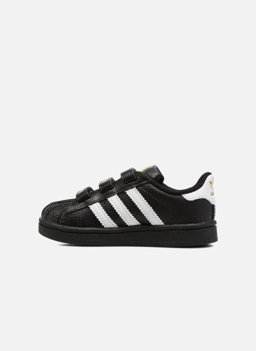 Deportivas adidas originals Superstar CF I Negro vista de frente