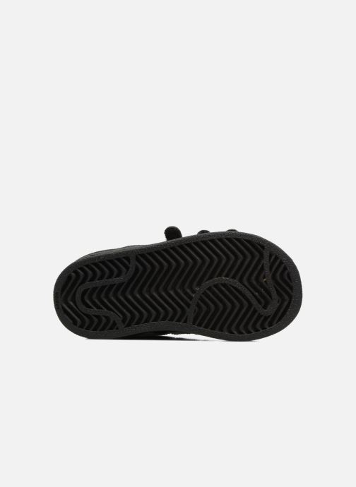Baskets adidas originals Superstar CF I Noir vue haut