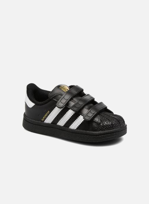 Baskets adidas originals Superstar CF I Noir vue détail/paire