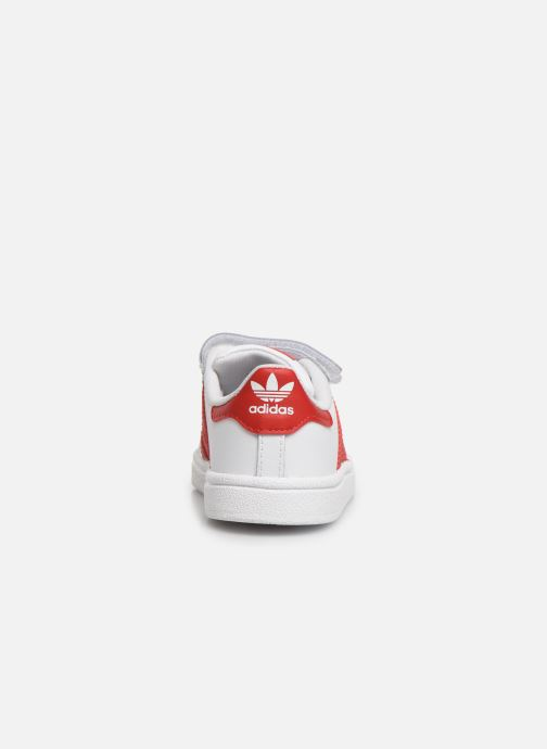 Deportivas adidas originals Superstar CF I Blanco vista lateral derecha
