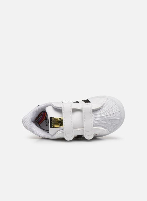 Sneaker adidas originals Superstar CF I weiß ansicht von links