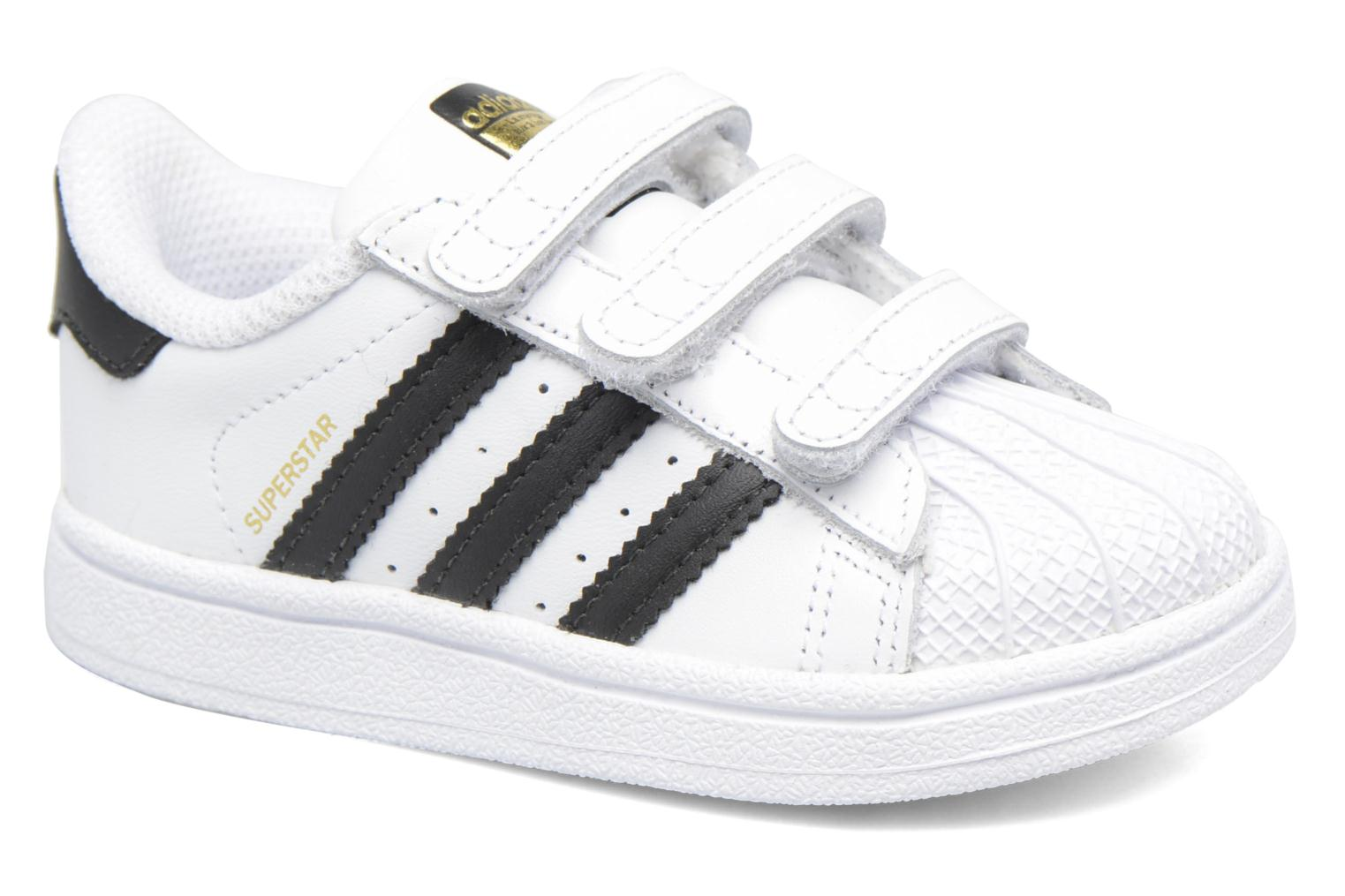 Baskets Adidas Originals Superstar CF I Blanc vue détail/paire
