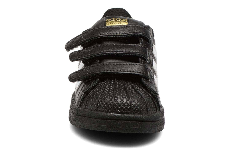 Baskets Adidas Originals Superstar CF I Noir vue portées chaussures