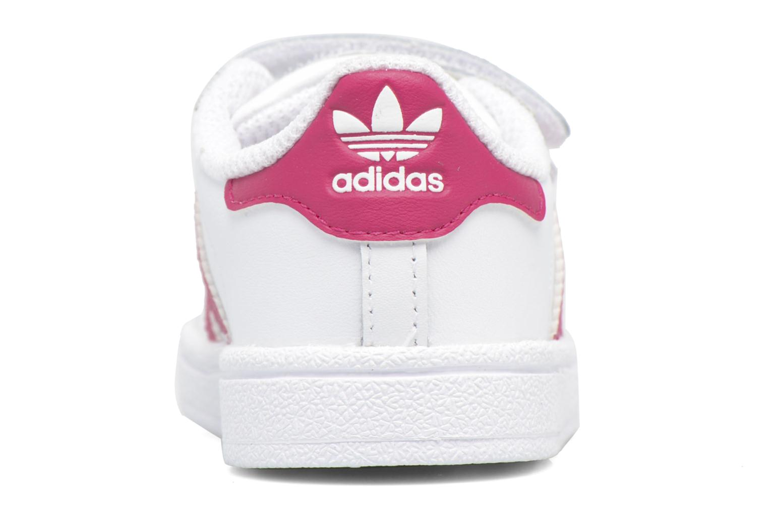 Baskets Adidas Originals Superstar CF I Blanc vue droite