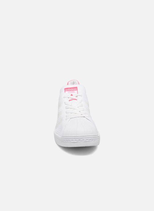 the latest f08a6 31b93 Baskets adidas originals Superstar 80S PK W Blanc vue portées chaussures