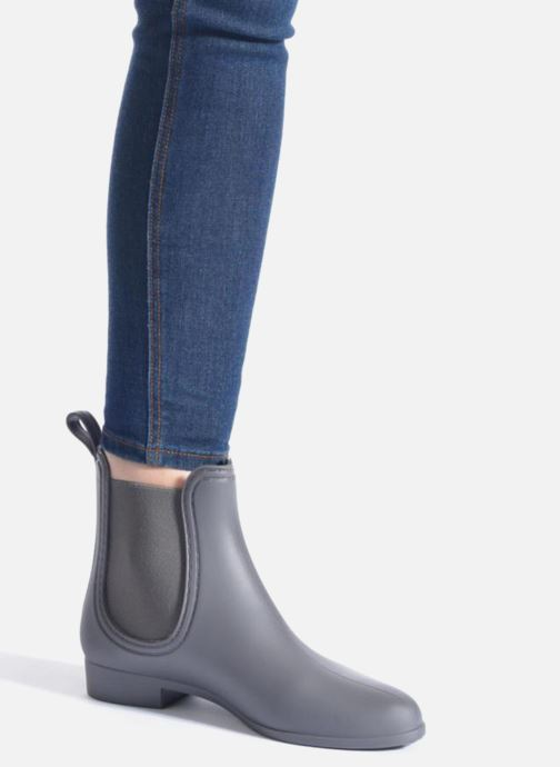 Bottines et boots Be Only Angy Mat Gris vue bas / vue portée sac