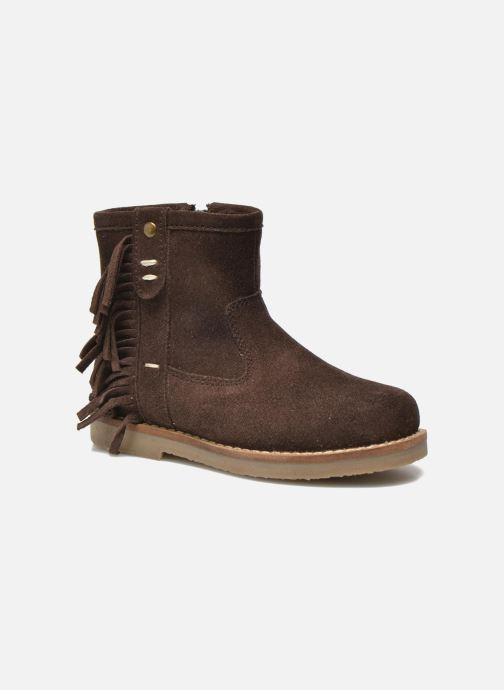 Bottines et boots I Love Shoes KERABAU Leather Marron vue détail/paire