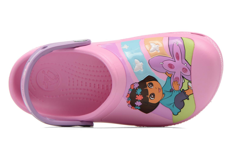Sandales et nu-pieds Crocs CC Dora Butterfly Cl Rose vue gauche