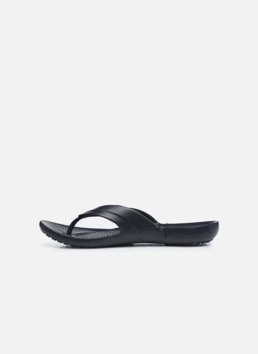 Zehensandalen Crocs Kadee Flip-flop Women schwarz ansicht von vorne
