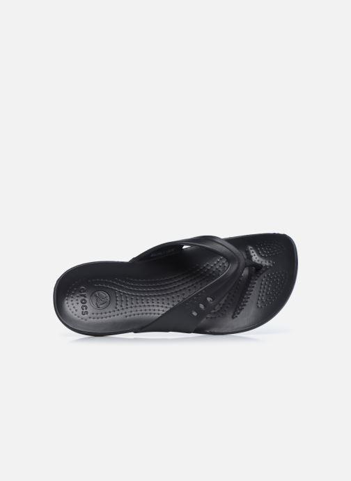 Zehensandalen Crocs Kadee Flip-flop Women schwarz ansicht von links