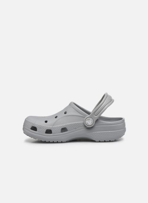 Sandales et nu-pieds Crocs Ralen Clog K Gris vue face