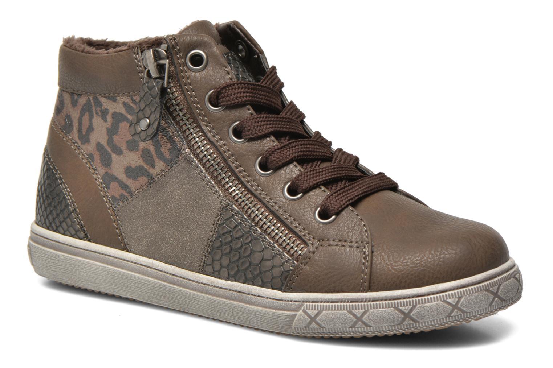 Baskets I Love Shoes SIRQUE Marron vue détail/paire