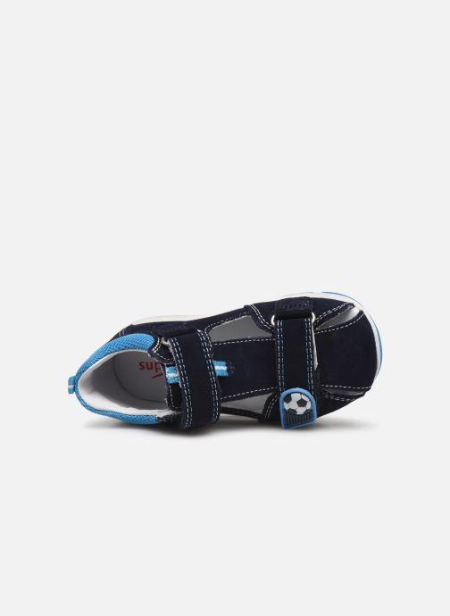 Sandalen Superfit Freddy blau ansicht von links