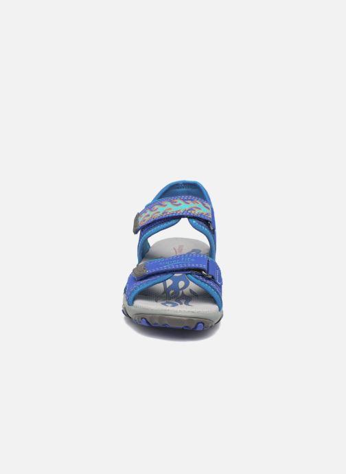 Sandales et nu-pieds Superfit Mike Bleu vue portées chaussures