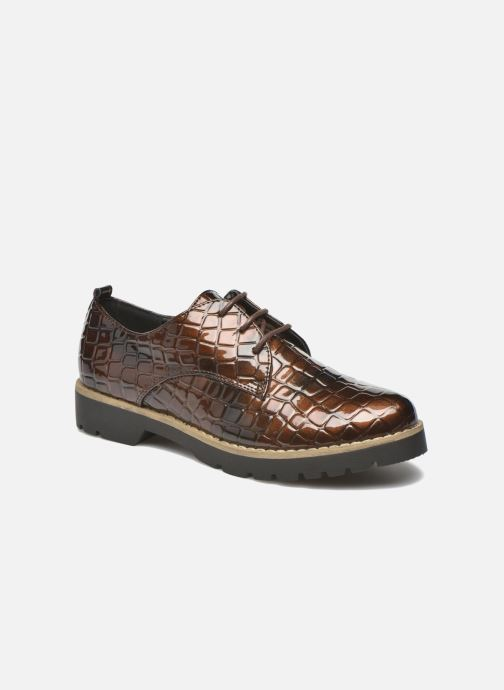 Lace-up shoes I Love Shoes Thada Brown detailed view/ Pair view