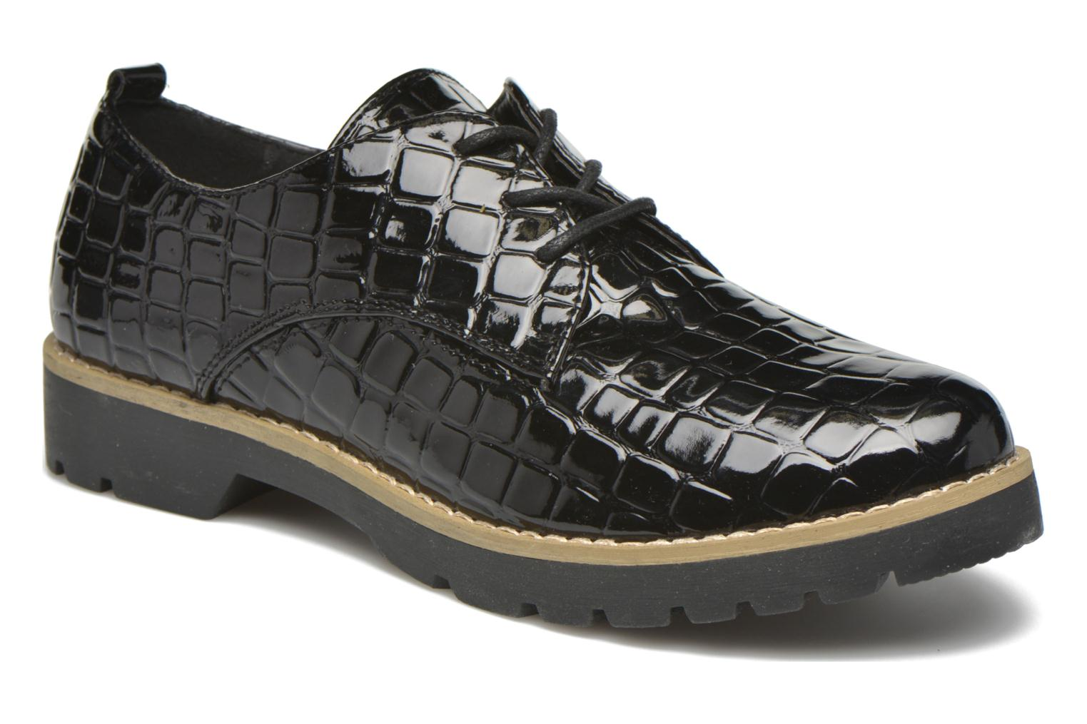 Lace-up shoes I Love Shoes Thada Black detailed view/ Pair view