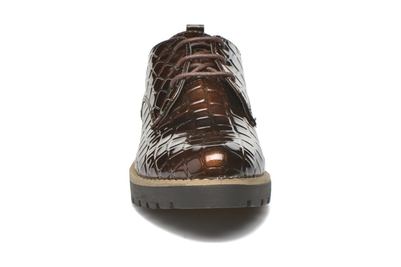 Zapatos con cordones I Love Shoes Thada Marrón vista del modelo