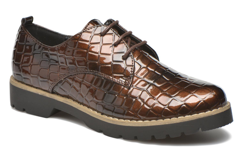 Zapatos con cordones I Love Shoes Thada Marrón vista de detalle / par