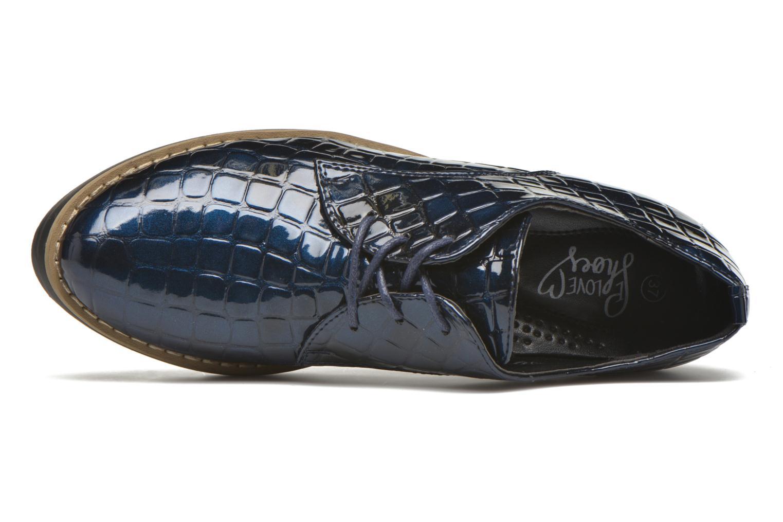 Chaussures à lacets I Love Shoes Thada Bleu vue gauche