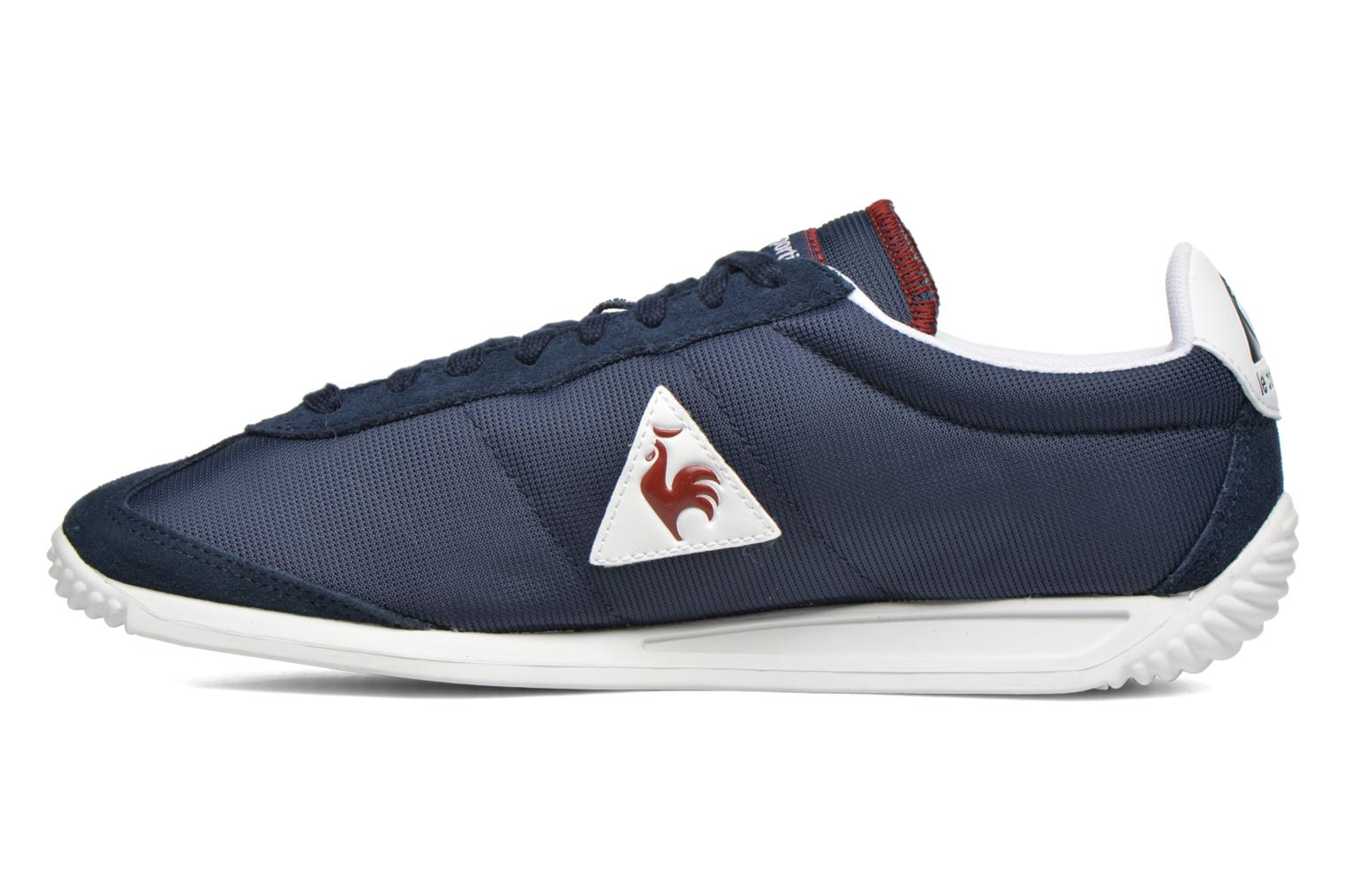 Baskets Le Coq Sportif Quartz Nylon Bleu vue face