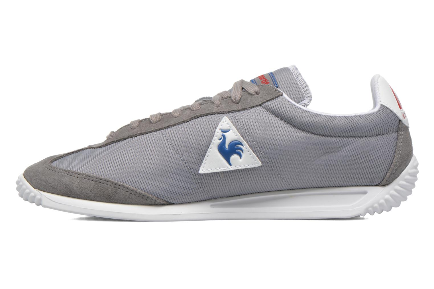 Baskets Le Coq Sportif Quartz Nylon Gris vue face