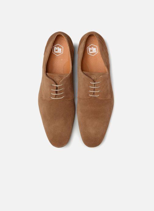 Zapatos con cordones Mr SARENZA Nathy Marrón vista del modelo