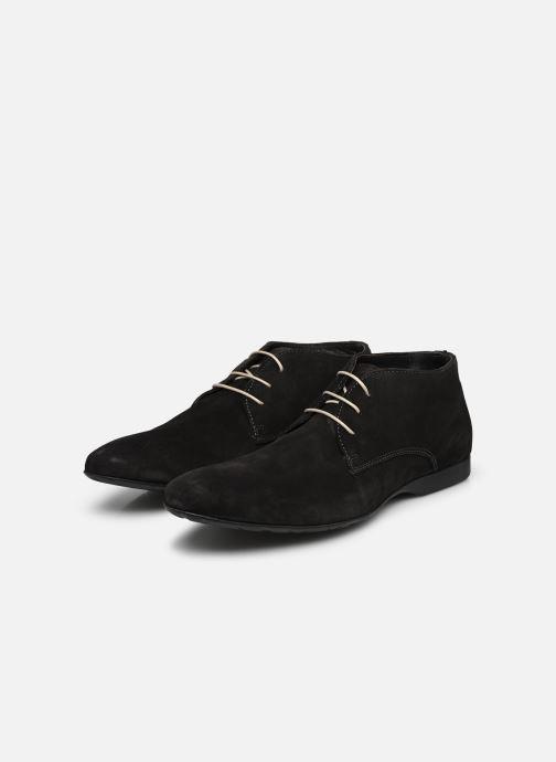 Schnürschuhe Mr SARENZA Nathanael grau ansicht von unten / tasche getragen