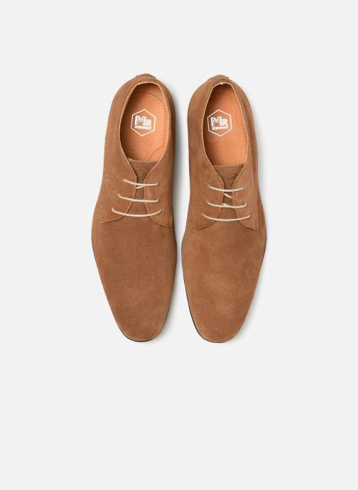 Zapatos con cordones Mr SARENZA Nathanael Marrón vista del modelo