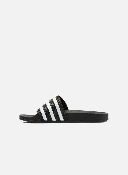 Sandalias adidas originals Adilette Negro vista de frente