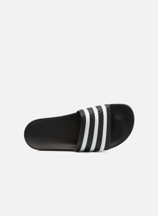 Sandalen adidas originals Adilette schwarz ansicht von links