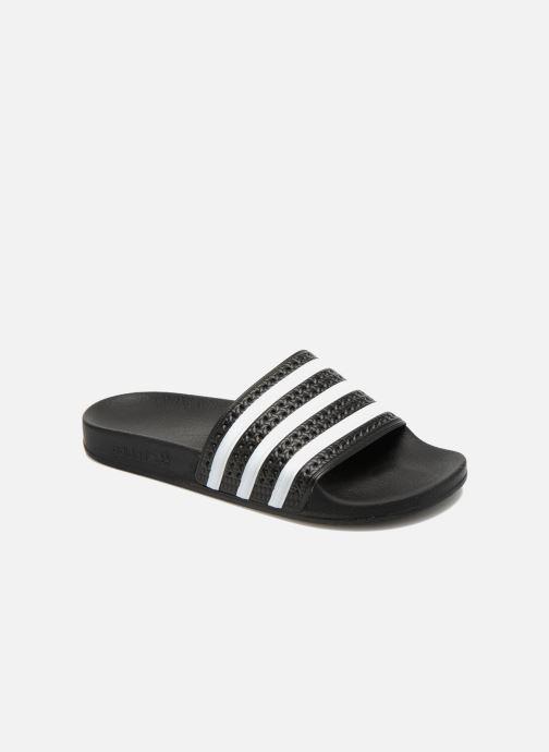 Sandalias adidas originals Adilette Negro vista de detalle / par