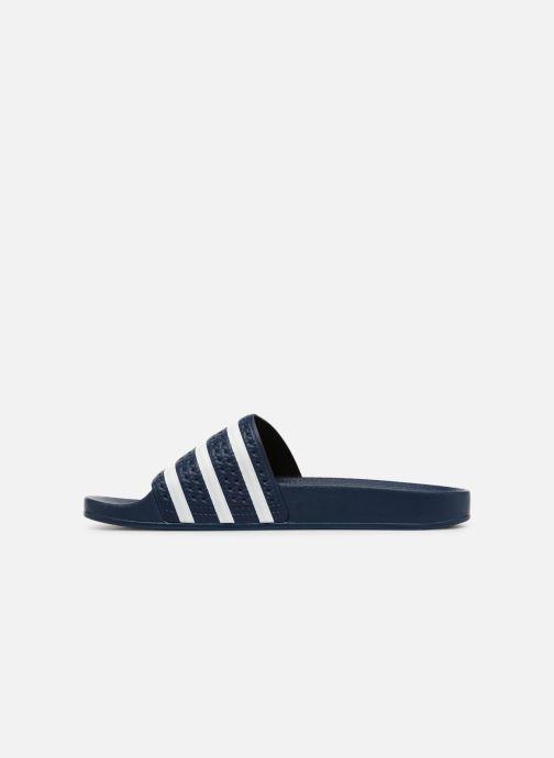 Sandales et nu-pieds adidas originals Adilette Bleu vue face