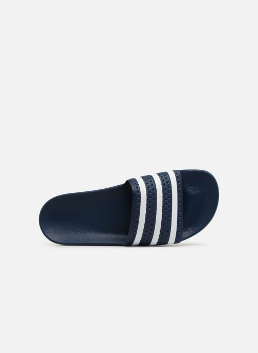 Sandalen adidas originals Adilette Blauw links