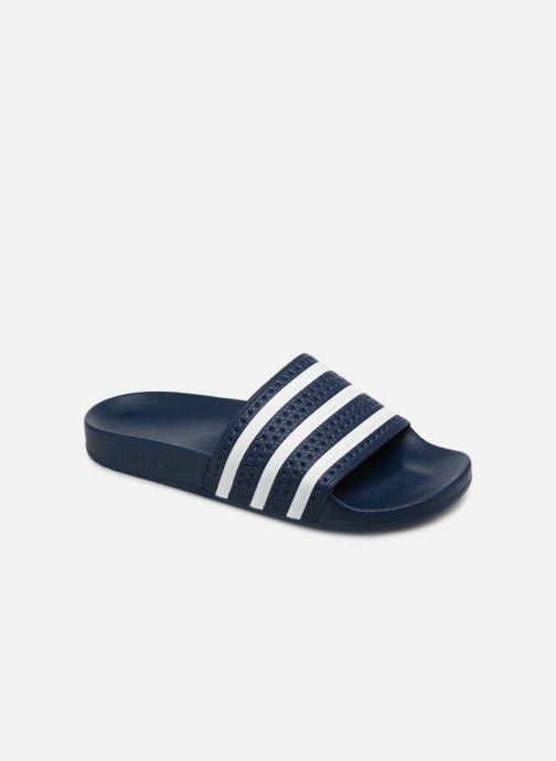 Sandalias adidas originals Adilette Azul vista de detalle / par
