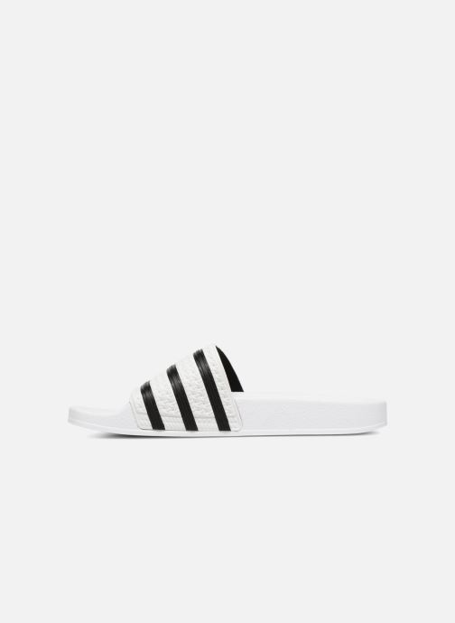 Sandales et nu-pieds adidas originals Adilette Blanc vue face
