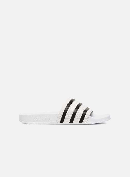 Sandales et nu-pieds adidas originals Adilette Blanc vue derrière