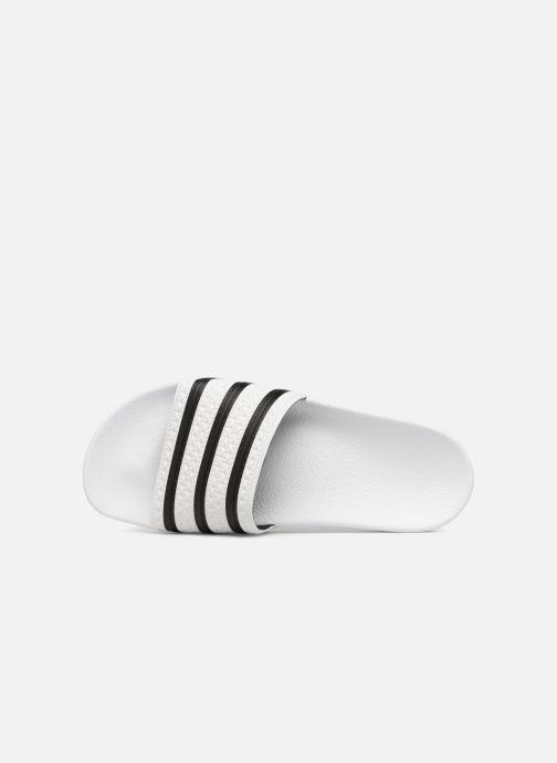 Sandales et nu-pieds adidas originals Adilette Blanc vue gauche