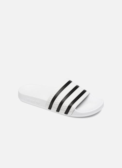 Sandales et nu-pieds adidas originals Adilette Blanc vue détail/paire