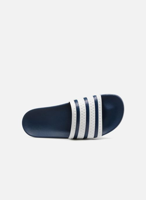 Sandales et nu-pieds adidas originals Adilette Bleu vue gauche