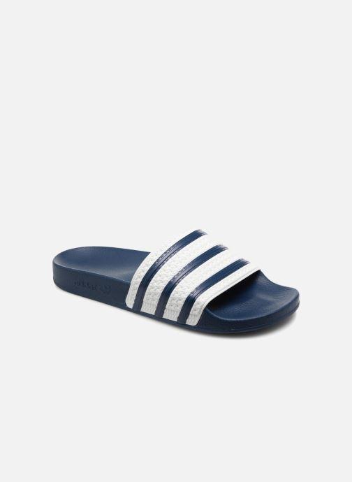 Sandales et nu-pieds adidas originals Adilette Bleu vue détail/paire