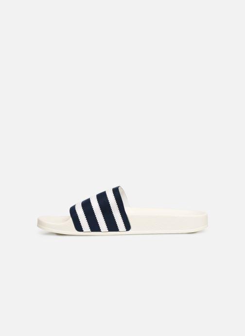 Sandalias adidas originals Adilette Blanco vista de frente