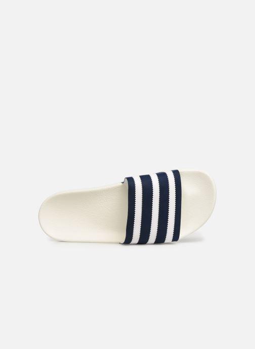 Sandalias adidas originals Adilette Blanco vista lateral izquierda