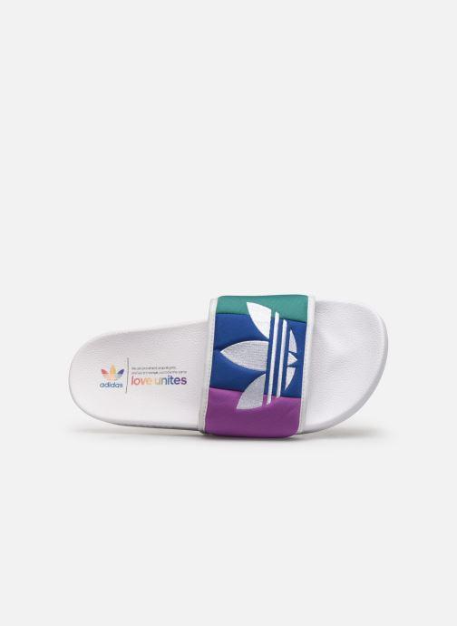 Sandales et nu-pieds adidas originals Adilette Multicolore vue gauche
