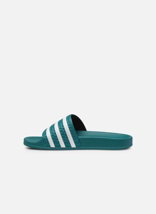 Sandales et nu-pieds adidas originals Adilette Vert vue face