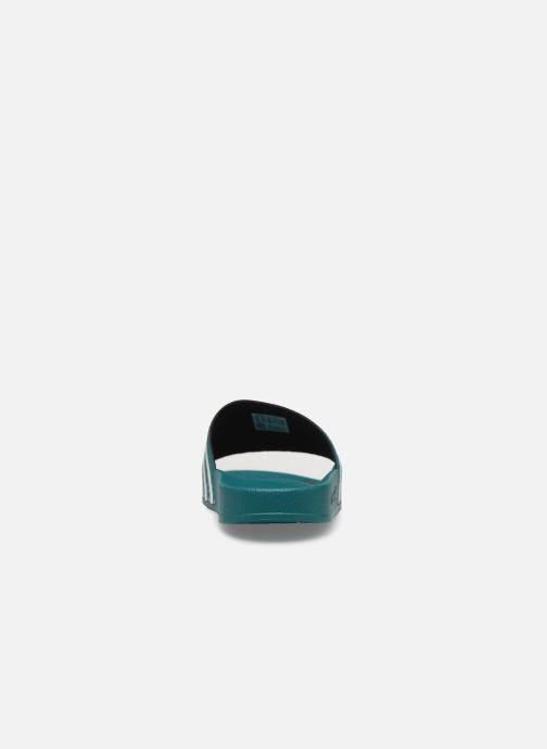 Sandales et nu-pieds adidas originals Adilette Vert vue droite